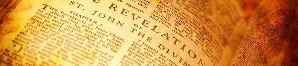 The Holy Bible Book of Revelation vintage style image